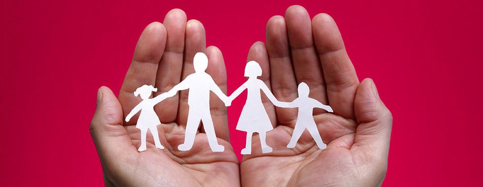 Hände Verbinden Familie